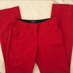 Express red columnist slacks pants size 2